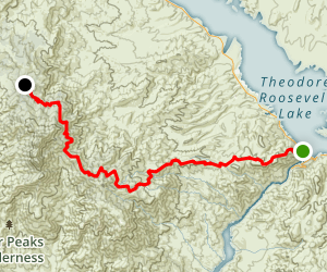 Arizona Trail from Roosevelt Lake to Pigeon Spring Road Map