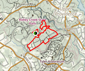 Ridley Creek Southern Trails Loop Map