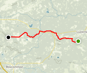 Luzerne Trail Camp to 4-Mile Trail Camp Map
