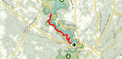 Blue Trail along Green Lake Reservoir Map