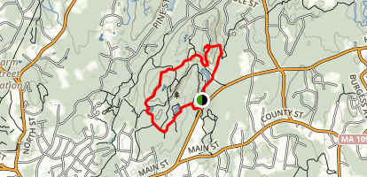Ridge Trail and Cedar Hill Loop Map
