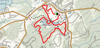 Benson Park Hiking Trail Map