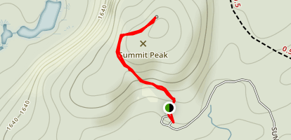 Summit Peak Observation Tower Map