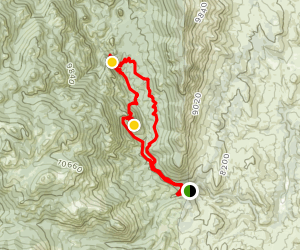 Harmonica Arch, Shaft House, and Goose Creek Loop Map