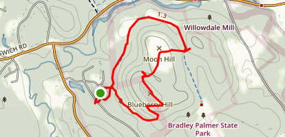 Blueberry Hill and Moon Hill Loop Map