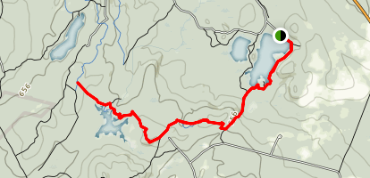 Lynx Trail to Hall Mountain Marsh Map