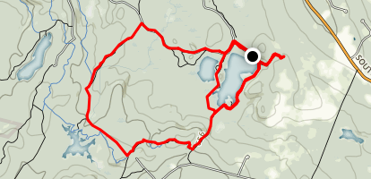 Beaver Pond to Lynx Trail and Broken Boulder Loop Map