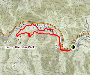 Bear Creek to Bruin Bluff and Creekside Trail Map