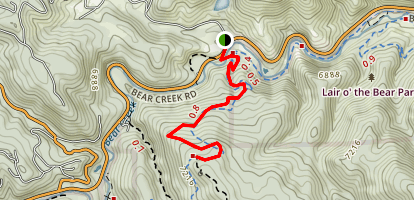 Bear Creek Trail to Panorama Point Map