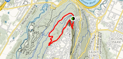 Upper Truck Trail to Bluff Trail Loop Map
