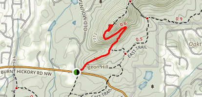 West Trail to Overlook Map