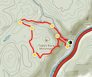 Tobys Rock Mountain Loop Map