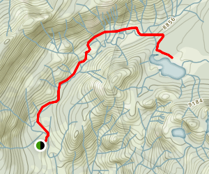 Mystery Lake Trail Map