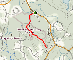 Bruin Hill Summit Path Map
