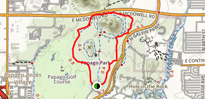 Papago Park Butte Loop Map
