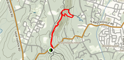 Quinnipiac Trail to Roaring Brook Falls Map