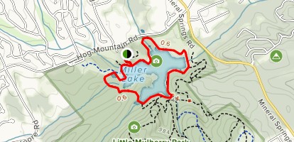 Miller Lake Trail Map