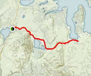Heart Lake and Trail Creek Trail Map