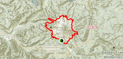 Timberline Trail from Timberline Lodge Map