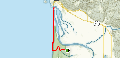 Tolowa Dunes to Mouth of Smith River Map