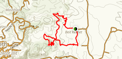 Bet Keshet Single Track סינגל בית הקשת Map