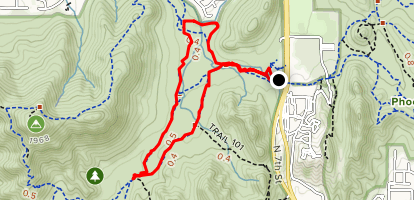 Trail 100 and Trail 306 Short Loop Map