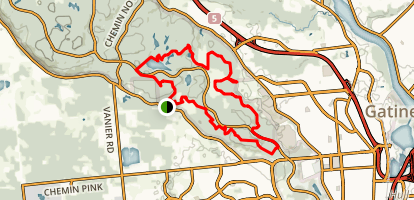 Pinks Lake Loop from Cook Rd- Trails 25, 27, 65, 66 Map