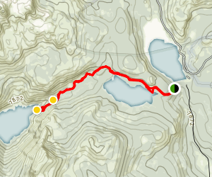 Twin Lake and Meadow Lake Trail Map