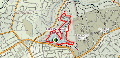 Lake Parramatta Map