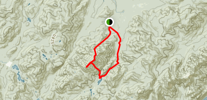Algonquin and Iroquois Peaks via Avalanche Pass Map