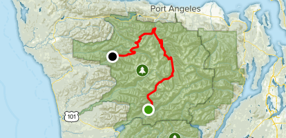 Olympic Traverse: North Fork to Hoh Map