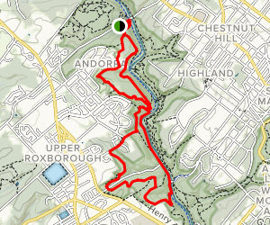 Wissahickon Loop Map