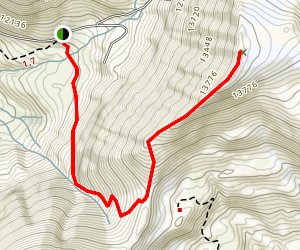 Mt Sherman from Iowa Gultch Map