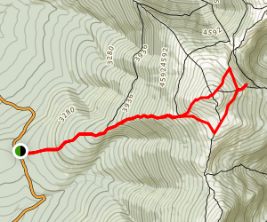 Mount Jefferson & Jefferson Ravine Bluffside Trail Map