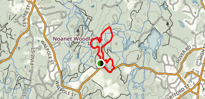 Powissett Peak Map