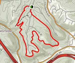 Beechwood, Quarry, and Red Oak Trail Map
