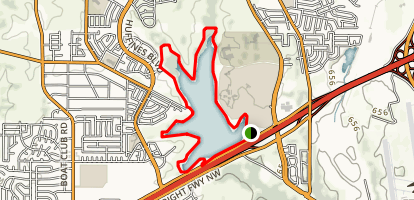 Marine Creek Lake Trail Map