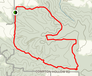 Compton Hollow from Conservation Lane Map