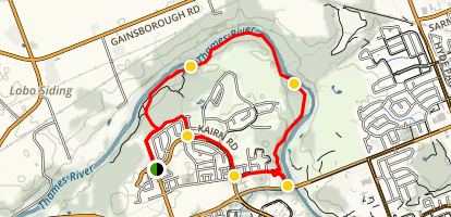Thames Valley Trail - Kains Woods Map