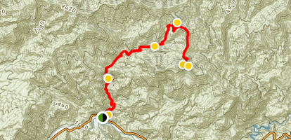 Condor Peak Via Trail Canyon Map