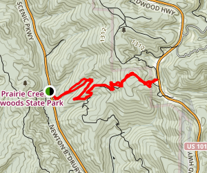 Rhododendron Trail to CREA Trail Map