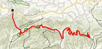 Oakmont Park via Teddy's and Oak Ridge Trails Map