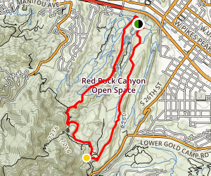 Red Rock Rim Trail to Palmer Trail To Greenlee Trail Map