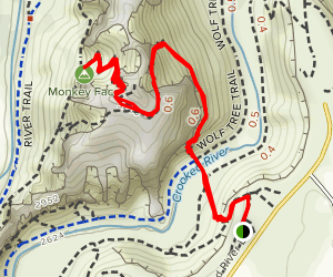 Misery Ridge Trail Map