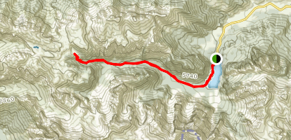 Pragsee and Rifugio Fedejora and the Val Foresta Map