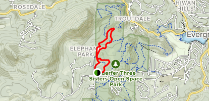 Coneflower, Mount Muhly, and Bearberry Trail loop Map