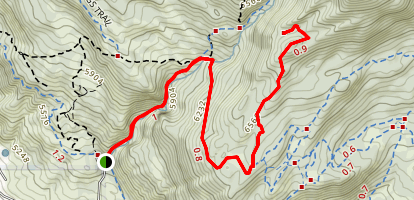 Dry Canyon Alternate Hike Map