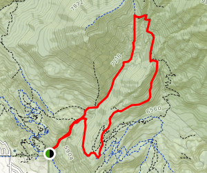 Little Baldy via Dry Canyon Map