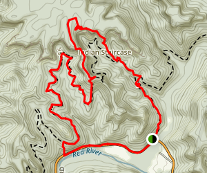 Indian Staircase to Cloudsplitter Map