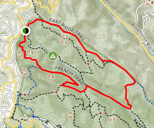 East Ridge, Prince, Stream, Tres Sendas, French West Ridge Map